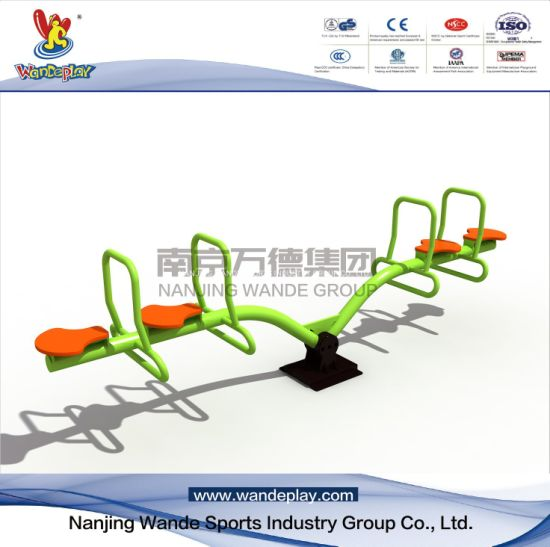 Outdoor Plastic Seat Seesaw Playground Equipment In Park