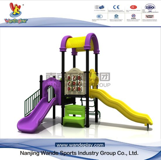 Outdoor Cartoon Playground Equipment in Park with Slides