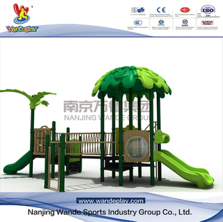 Outdoor Treehouse Playsets with Slides for Kids