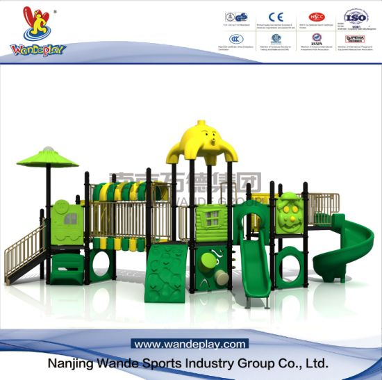 Outdoor Cartoon Playground Equipment in Park for Toddlers