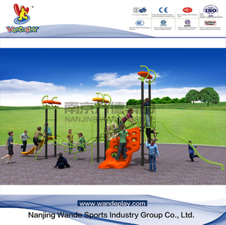 Climbing Wall Outdoor Playset with Plastic Slide