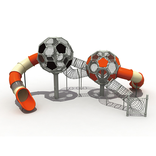 Outdoor Football Tower Climbing Playground with Slides