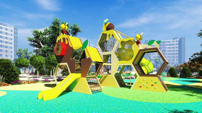 Honeycomb outdoor play Equipment
