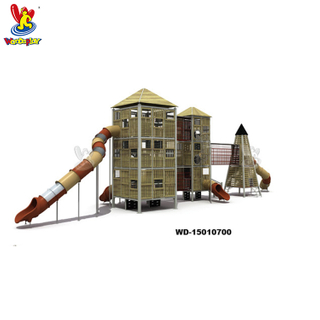 Outdoor Adventure Towing Tower Kids Playground Equipment with Slide