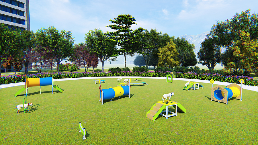 Outdoor Dog Training Equipment Pet Sports and Games Park