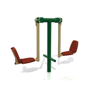 Double Squat Push Outdoor Fitness Equipment For Adults