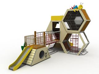 Outdoor Children Honeycomb Playground Slide Equipment for Community